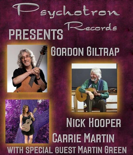 Gordon Giltrap and Friends CANCELLED DUE TO UNFORSEEN EVENTS