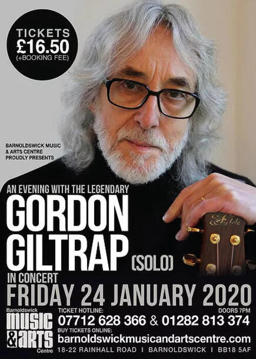 Gordon Giltrap in concert RESCHEDULED to nbsp31st Jan 2020