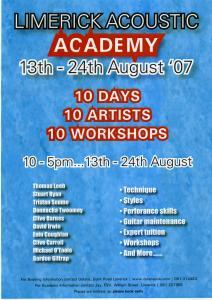 Limericks Acoustic Academy and Guitar Festival