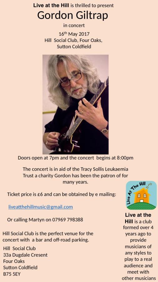 Concert on behalf of Tracy Sollis Leukaemia Trust