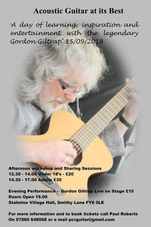 Rescheduled from 10th February nbspGordon Giltrap in concert