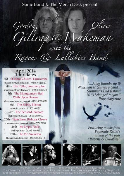 Oliver Wakeman amp Gordon Giltrap039s Ravens and Lullabies Band show