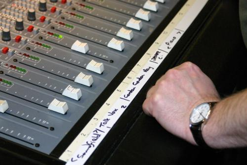 Sound board close up