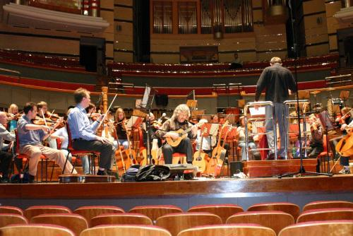Gordon, Andrew and the orchestra rehearse