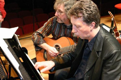 Gordon and Rod rehearse