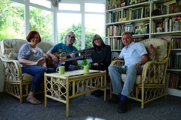 Guitarist Gordon Giltrap with wife Hilary and Piotr and Ania Wargan