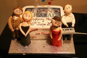 Beyond the Barricade 10th Anniversary cake