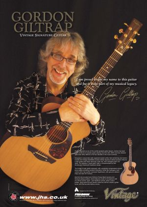 Gordon with his new JHS signature guitar