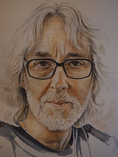 Portrait of Gordon Giltrap by Sue Martin